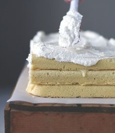 Sour Cream Pound Cake With White Chocolate Filling