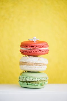 Macaron Ring Shot - Kristyn Harder Photography