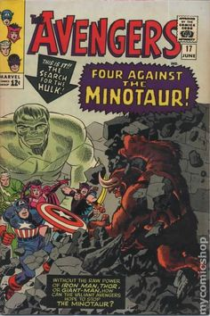 The Avengers No.17 - June 1965. Cover Pencils Jack Kirby & Inks Frank Giacoia.