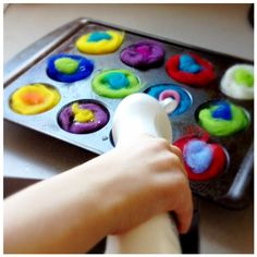"""Ideas from Sydney Steiner """"Learning Motherhood. ~ """"art for children is mostly about the process. Crafts To Do, Arts And Crafts, Diy Crafts, Wet Felting, Needle Felting, Spring Activities, Activities For Kids, Felt Flowers, Fabric Flowers"""