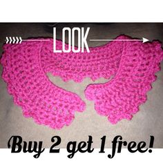 Crochet petter pan collars follow my ig @ four blessed to purchase for $10.00 each