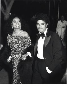 1981 - Michael Jackson & Diana Ross attend the academy awards.