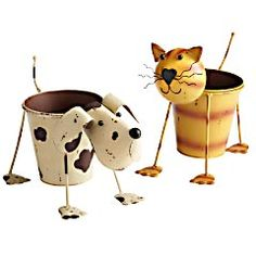 Cat & Dog Planters