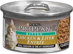 $21.99-$20.99 Pro Plan Kitten Classic Ocean Whitefish & Tuna Entree Canned Cat Food is made with delicious, healthful fish. Not only does it bolster your kitten's developing key protective systems during this formative stage - the immune system, digestive system and skin & coat system - it also is formulated to supply your kitten with energy and the building blocks needed to grow healthy and stro ...