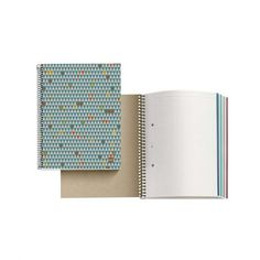 Libreta de papel reciclado triángulos - Cero Residuo Tienda Online Notebook, Dental Floss, Remainders, Spirals, Jars, Store, Paper Envelopes, Exercise Book, The Notebook