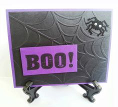 Black and purple with spider.  Boo!!  www.facebook.com/KatherinesHandmadeCreations