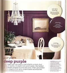 love the color. never thought of purple this dark for walls but seeing it is believing it and i love it