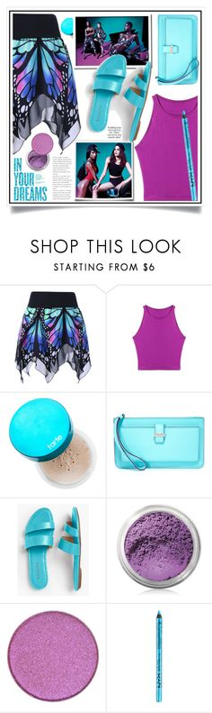 """""""Butterfly Shape High Waist Skirt ( Contest with prizes - WIN 20$ )"""" by ewa-naukowicz-wojcik ❤ liked on Polyvore featuring tarte, River Island, Kate Spade, Talbots, Bare Escentuals, Anastasia Beverly Hills and NYX"""