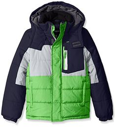 London Fog Boys Color Block Puffer Coat -- Check this awesome image @