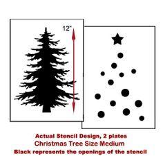 Christmas Tree Stencil  See more Holiday Stencils: http://www.cuttingedgestencils.com/christmas-stencils-valentine-halloween.html