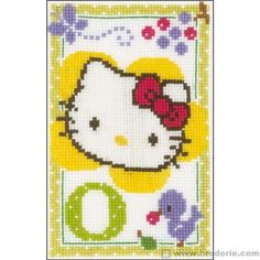 Hello kitty lettre o