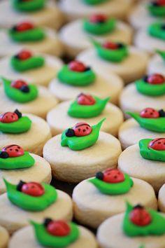 Mini Ladybug Sugar Cookies