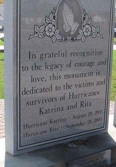 Hurricane Katrina and Rita Memorial