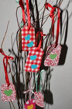 Tag reciclada, decoração de natal