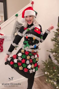 Items similar to Ugly Christmas Sweater, Christmas Tree Sweater, Womens Ugly Christmas Sweater on Etsy Christmas Tree Ugly Sweater, Christmas Sweaters For Women, Christmas Bows, Christmas Colors, Christmas Ideas, Xmas Sweaters, Christmas Clothes, Christmas Outfits, Kids Ugly Sweater