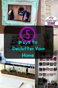 Looking for ways to declutter your home?  No problem!  Check out some tips on how to clear up your mess and have a more organized home! See tutorial ---> http://www.discountqueens.com/5-ways-to-declutter-your-home/