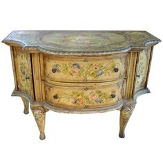 View this item and discover similar for sale at - This painted antique Venetian 2 door commode has painted floral bouquets surrounded by c and s-scroll leaf borders. French Decor, Furniture, Painted Furniture, Venetian, French Furniture, Small Furniture, Paint Furniture, Furniture Inspiration, Cool Furniture