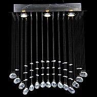 Modern LED Crystal Ceiling Lamp With 3 Lights For Living Room Light Bedroom Lighting Lustre De Cristal