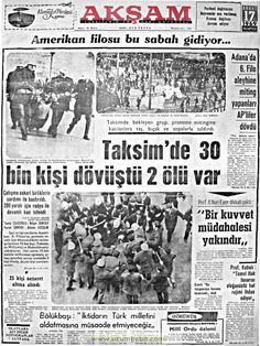 Akşam gazetesi 17 şubat 1969 Newspaper Headlines, Old Newspaper, Trivia Of The Day, Turkey History, Turkey Country, Newspaper Archives, Revolutionaries, Nostalgia, Morning Papers