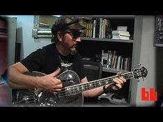The legendary Les Claypool playing Michael Kelly resonator bass. MichaelKellyGuitars.com
