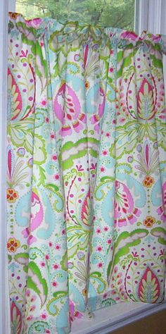 Set of curtains using Amy Butler Lark Glamour Floral Couture ...