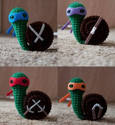 crochet ninja turtles   Teenage Mutant Ninja Crochet: Heroes in a Snail Shell