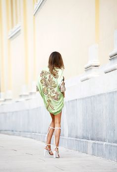 Pucci bomber dress and A. Wang Aline Sandals *drool*