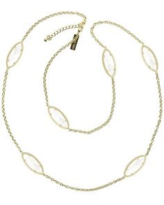 Tory Long Necklace in Clear Crystal - Kendra Scott Jewelry
