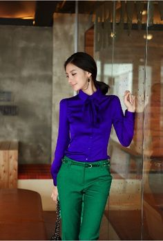 Women blouse sexy dress shirt faux silk casual tops lady  summer outdoor fashion clothes 2013 new style blue Color-in Blouses  Shirts from Apparel  Accessories on Aliexpress.com $18.99