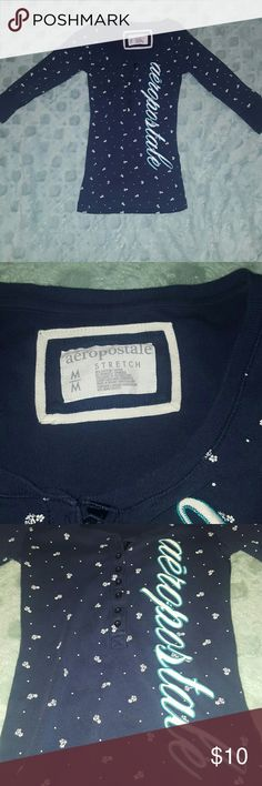 Aeropostale Henley Shirt with 3/4 Sleeves This shirt is perfect for fall weather. It's super comfortable and stylish. The pattern is floral. Light wear. Make an offer! Aeropostale Tops Tees - Long Sleeve