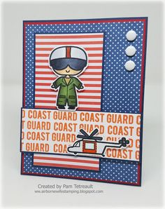"airbornewife's stamping spot: Sweet Stamp Shop April Release ""MILITARY STAMPS!!"" ~ ""COAST GUARD"" card"