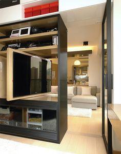 marcenaria / sala sem barreiras / Como distribuir um apartamento pequeno #hogarhabitissimo