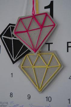 DIY Paper Diamond Decorations.