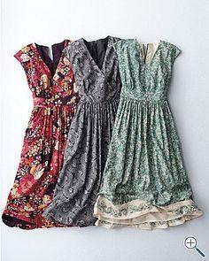 Pretty, wearable, everyday dress. So feminine and sweet.