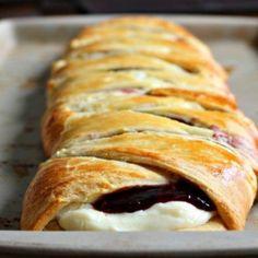 Raspberry Cream Cheese Pastry Braid