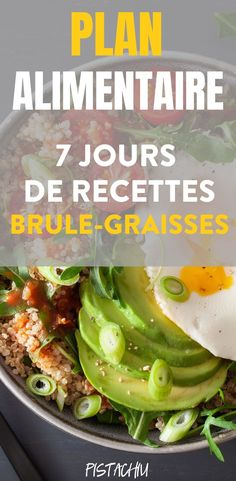 Plan Alimentaire Brûle Graisses De 7 Jours – Pistachiu This week-long program to lose weight quickly and easily and healthy will help you start a healthy diet with fat-burning recipes perfect for weight loss Healthy Muffin Recipes, Raw Food Recipes, Detox Recipes, Kefir, Sixpack Training, Sports Food, Low Fat Diets, Fat Burning Foods, Nutrition Program