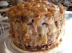 New Orleans Double Chocolate Praline Fudge Cake.
