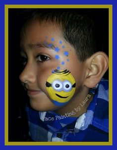 Minion Face Painting #minions #facepainting