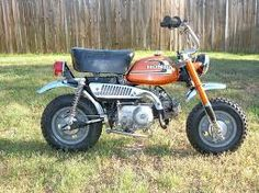The bike that started it all for me....1973 Honda Z-50 my first bike ever...I was 6-7 years old and got this on birthday...it went thru me then my brother Glen...sold it 30 years later and it still ran!! After this one parents got us both Suzuki DS-100's...then I had a couple other dirt bikes...most kids get a 1st car...my 1st vehicle was a 1982 Harley XLH 100 Sportster....Go Figure  LOL!!
