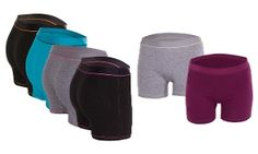 Groupon - 6-Pack of Women's Active Sporting Shorts in [missing {{location}} value]. Groupon deal price: $22.99