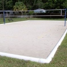 How to build your own sand volleyball court   Sand ...