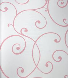 Swirls and Curls Pink Petal Kids Wallpaper