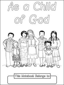 As a Child of God Copywork Notebook - Primary lines