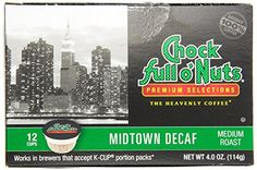 Chock Full o Nuts Midtown Decaf Single Serve Coffee Pods 12 Ct  Pack of 2 -- Find out more about the great product at the image link.-It is an affiliate link to Amazon.