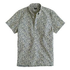 Short-sleeve popover in reverse-printed floral | J.Crew - $58