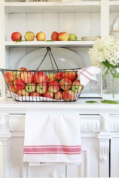 fresh picked apples in a basket