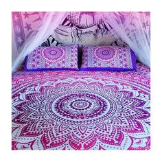 Pink ombre Wall Hanging Beach Throw Bedspread Mandala Wall Hanging- all of these designs are so beautiful!
