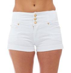 Classic Designs Juniors High Waisted 5 Pocket Stretch Cotton Short Shorts $18.50