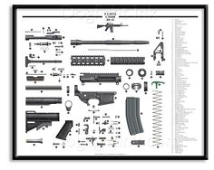 AR-15 Exploded Parts Diagram, brought to you by Sportsman's Outdoor Superstore! ;)