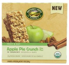 NATURE'S PATH ORGANIC Crunchy Granola Bars, Apple Pie Crunch, 7.05-Ounce (Pack of 6) - http://goodvibeorganics.com/natures-path-organic-crunchy-granola-bars-apple-pie-crunch-7-05-ounce-pack-of-6/
